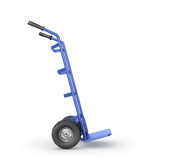Empty hand truck isolation on a white background. Royalty Free Stock Photo