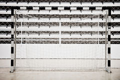 Empty handball net Stock Photos