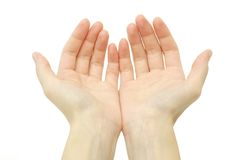 Empty hands Royalty Free Stock Photo