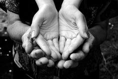 Empty hands Stock Photo