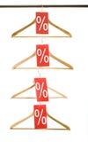 Empty hangers Stock Images