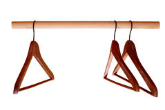 Empty hangers on rail Royalty Free Stock Photos