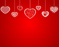 Empty hanging hearts Stock Photography