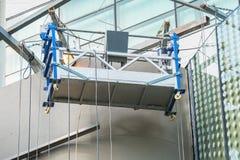 Empty hanging scaffold Stock Photos