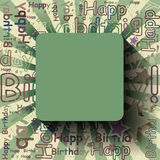 Empty Happy Birthday background or card. Stock Images