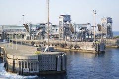 Empty harbor Stock Photo