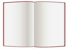Empty  hardcover book. An open empty  hardcover book Stock Photos