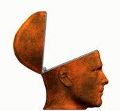 Empty Head. Illustration of a man's head hinged open