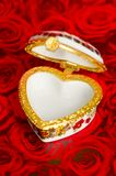 Empty heart box for your gift Royalty Free Stock Image