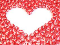Empty heart dice Royalty Free Stock Image
