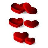 Empty heart shape box Stock Photo