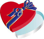 Empty heart shaped box Royalty Free Stock Photo