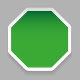 Empty hexagon sticker green Stock Photos