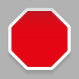 Empty hexagon sticker red Royalty Free Stock Photo