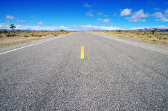 Empty High Desert Road Stock Photo