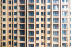 Empty high residential buidling close-up Royalty Free Stock Images