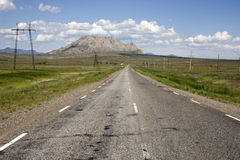 Empty highway. Royalty Free Stock Images
