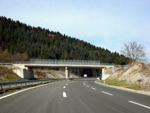 Empty highway. Zagreb - Rijeka in Croatia, Europe stock photos