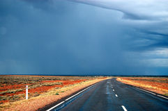 Empty highway. Somewhere in outback, South Australia Stock Photo