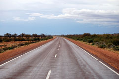 Empty highway. Somewhere in outback, South Australia Stock Images