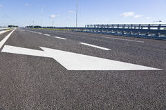 Empty highway. With blue sky Royalty Free Stock Photo