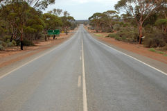 Empty highway. In outback, Western Australia Royalty Free Stock Image