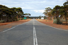 Empty highway. In outback, Western Australia Stock Images