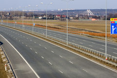 An empty highway Stock Image