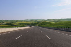 Empty Highway - Road Without Cars - Landscape Royalty Free Stock Images