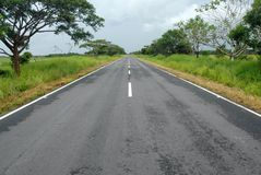 Empty highway royalty free stock photos