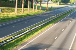 Empty highway from above Royalty Free Stock Photography