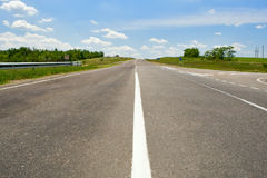 Empty highway with blue sky Stock Image
