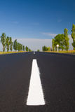 Empty highway with blue sky. Above Stock Image