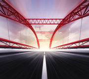 Empty highway bridge in motion blur Royalty Free Stock Photography