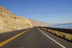 Empty highway in high desert Stock Image