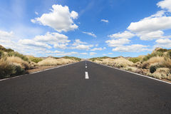 Empty highway in  landscape - straight road Stock Photography