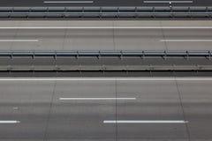 Empty highway lanes Stock Photos