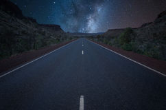 Empty  highway at night Royalty Free Stock Photos