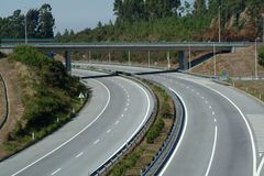 Empty highway perspective view Royalty Free Stock Image