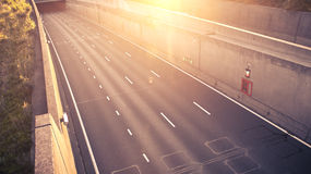 An empty highway road Stock Photography