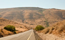 Empty highway road .Galilee. North Israel . A view of an empty highway road .Landscape Of North Galilee In Early winter, Israel Stock Image
