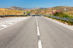 Empty highway in summer day Royalty Free Stock Image