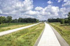Empty highway at sunny day Royalty Free Stock Photography