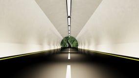 Empty highway tunnel Stock Photos