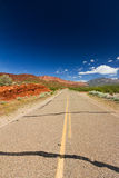 Empty Highway Through the Utah Desert Stock Images