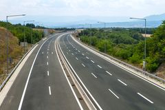 Empty highway view Royalty Free Stock Images
