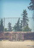 Empty Hockey Net Stock Images