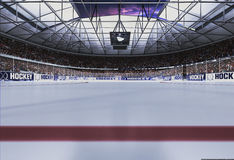 Empty Hockey stadium with evening sky. Empty Hockey stadium in evening with cloudy sky Stock Photography