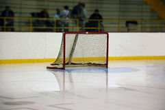Empty hocky net Stock Image