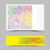 Empty holi colors paper set template. Empty holi colors poster banner paper template. Phagwa festival of paints color confetti tinsel sequin design. Abstract Stock Image